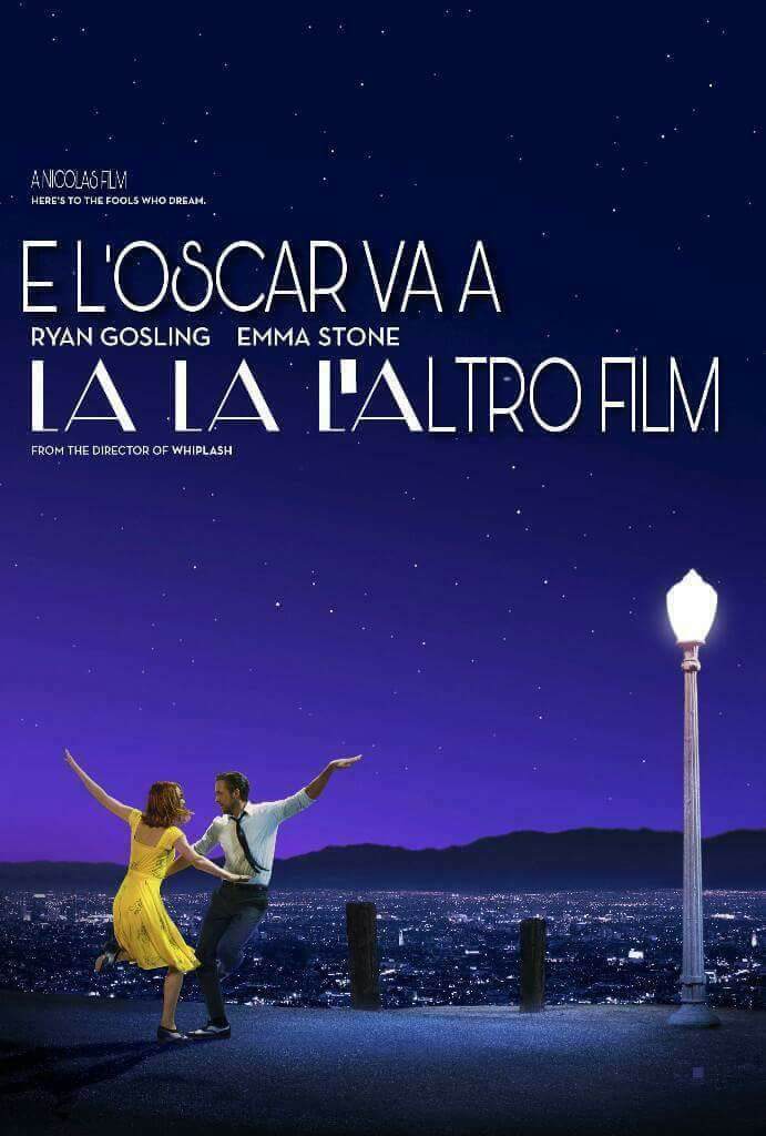 Oscar 2017 con gaffe clamorosa: Moonlight miglior film, La La Land doppia beffa