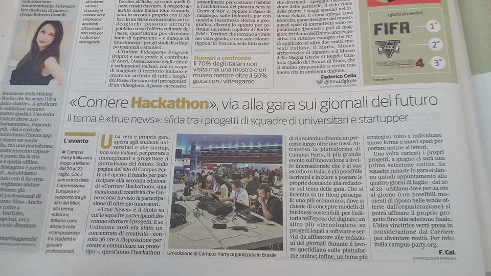 Campus Party #Innovationair in diretta ogni mercoledì h 18.00